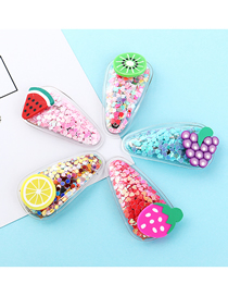 Fashion Color Fruit Hair Clip Set