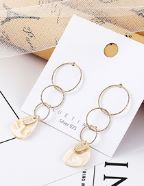 Fashion Gold Gold Plated Three-ring Tassel S925 Silver Needle Stud Earrings