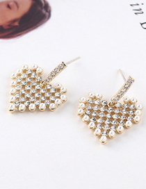 Fashion Gold Plated Gold Love S925 Silver Needle Earrings