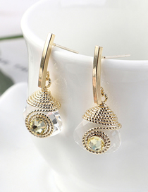 Fashion 14k Gold + Yellow Gold Plated Eyelid 925 Silver Needle Earrings