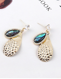 Fashion Gold Plated Gold Spotted S925 Silver Pin Earrings