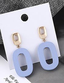 Fashion Blue Frosted Round Earrings