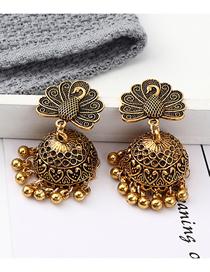 Fashion Kc Gold Peacock Open Earrings