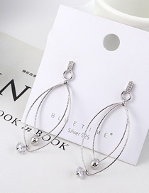 Fashion Platinum Gold Plated Hollow S925 Silver Needle Stud Earrings