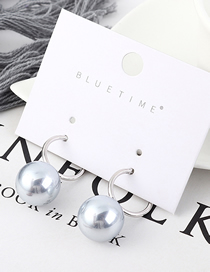 Fashion Silver Plated Gold Pearl Earrings