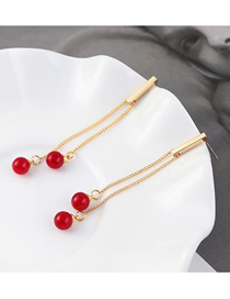 Fashion Gold Plated Gold Ball Tassel S925 Silver Needle Stud Earrings