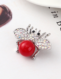 Fashion Red Small Flying Crystal Brooch