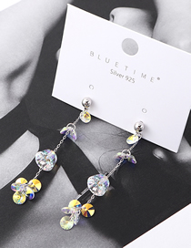 Fashion Ab Crystal Earrings - Colorful