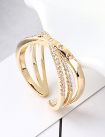 Fashion 14k Gold Zircon Ring - Winding
