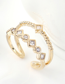 Fashion 14k Gold Zircon Ring - Ring Of Charm