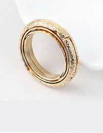Fashion 14k Gold Gold Plated Ring - Astronomical Ball Ring