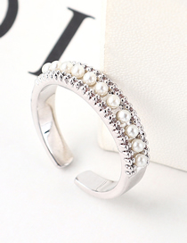Fashion Platinum Zircon Ring - Dazzling