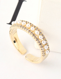 Fashion 14k Gold Zircon Ring - Dazzling