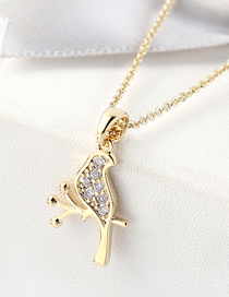 Fashion 14k Gold Zircon Necklace - Dead Branches