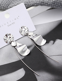 Fashion Platinum Plated Gold Small Lotus Leaf S925 Silver Needle Stud Earrings
