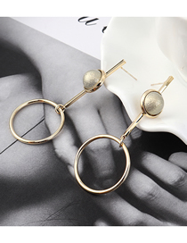 Fashion Gray Plated Gold Circle Cutout S925 Silver Needle Stud Earrings