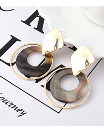 Fashion K Gold Plated Gold Circle Cutout S925 Silver Needle Stud Earrings