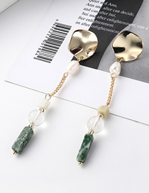 Fashion Gold Plated Gold Small Lotus Leaf Pearl Fringed S925 Silver Needle Stud Earrings