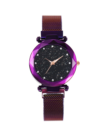 Fashion Purple Tape Star Watch  Electronic Element