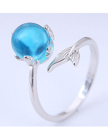 Fashion Silver Fish Tail Open Ring