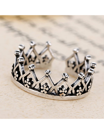 Fashion Silver Crown Open Ring