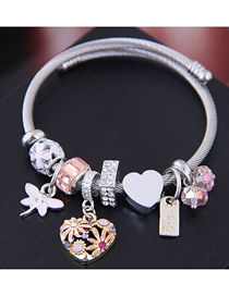 Fashion Pink Metal Love Bracelet