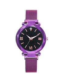 Fashion Purple Star Tape Watch