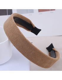Fashion Brown Solid Color Non-slip Toothed Headband