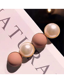 Fashion Pink Alloy Pearl Hairpin