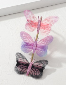 Fashion Color Small Butterfly Hairpin