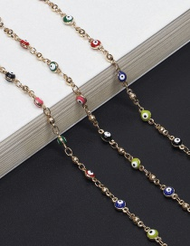 Fashion Gold Eye Copper Bead Chain Metal Glasses Chain