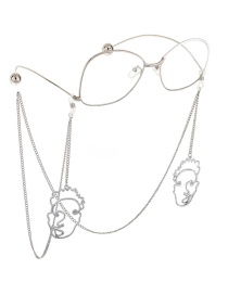 Fashion Silver Non-slip Metal Silver Mask Glasses Chain