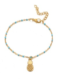 Fashion Gold Small Fish Hippocampus Eye Pineapple Anklet