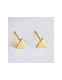Fashion Gold Stainless Steel Geometric Gold-plated Earrings