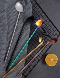Fashion Primary Color (single Pack) 304 Stainless Steel Straw Spoon (10 Pieces)
