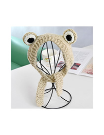 Fashion Beige Knitted Wool Cartoon Frog Child Hair Band
