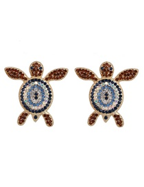 Fashion Blue Animal Sea Turtle Stud Earrings