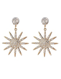 Fashion Gold Golden Sun Flower Earrings