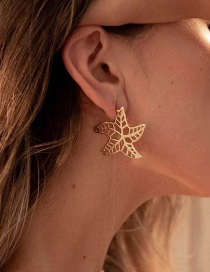 Fashion Gold Starfish Earrings