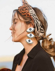 Fashion Gold Eye Earrings