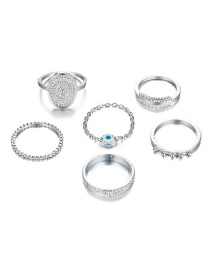 Fashion Silver Gold Plated Ring 6 Piece Set