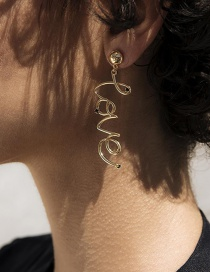 Fashion Gold Love Letter Earrings