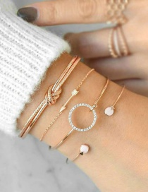 Fashion Gold Multi-layer Bracelet Set