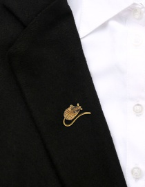 Fashion Gold Alloy Diamond Mouse Brooch