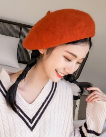 Fashion Caramel Colour Woolen Beret
