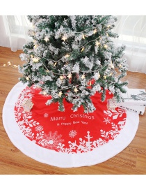 Fashion 122cm Snowflake English Tree Skirt Christmas Tree Skirt