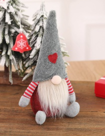 Fashion H Gray Hat Sitting Posture Faceless Doll Plush Toy