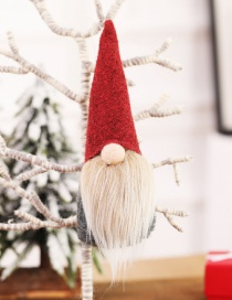 Fashion H Red Models Without Face Dolls Without Hand Ornaments Faceless Doll Small Christmas Tree Pendant