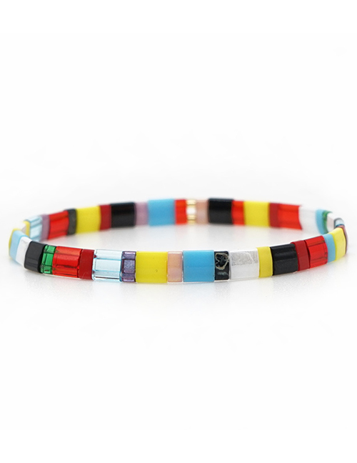 Fashion Color Square Rice Beads Beaded Bracelet