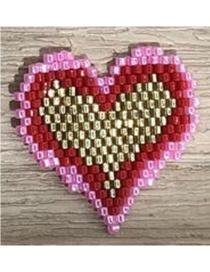 Fashion Color Mizhu Weaving Love Accessories